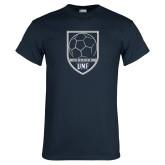 Navy T Shirt-Soccer Shield