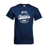 Navy T Shirt-2016 Atlantic Sun Conference Champions Beach Volleyball