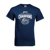 Navy T Shirt-2016 Atlantic Sun Conference Champions Womens Tennis