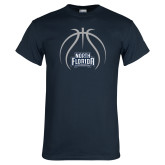 Navy T Shirt-Basketball Abstract Ball