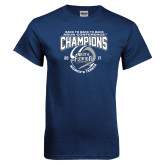 Navy T Shirt-2017 ASUN Conference Womens Tennis Champions Back To Back