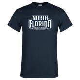 Navy T Shirt-North Florida Ospreys