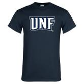 Navy T Shirt-UNF Monogram