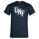 Navy T Shirt-Diagonal UNF Monogram