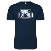 Next Level SoftStyle Navy T Shirt-North Florida Ospreys
