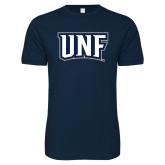 Next Level SoftStyle Navy T Shirt-UNF Monogram