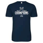 Next Level SoftStyle Navy T Shirt-2018 Mens Tennis Champions