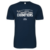 Next Level SoftStyle Navy T Shirt-2018 Womens Tennis Champions
