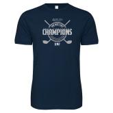 Next Level SoftStyle Navy T Shirt-2018 Mens Golf Champions