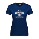 Ladies Navy T Shirt-2016 Atlantic Sun Conference Champions Womens Golf