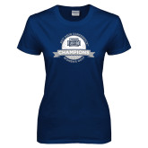 Ladies Navy T Shirt-2017 ASUN Conference Womens Golf Champions