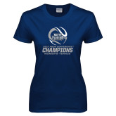 Ladies Navy T Shirt-2017 ASUN Conference Womens Tennis Champions