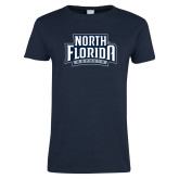 Ladies Navy T Shirt-North Florida Ospreys