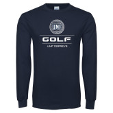 Navy Long Sleeve T Shirt-Golf Stacked
