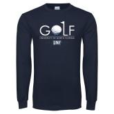 Navy Long Sleeve T Shirt-Golf Type
