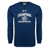 Navy Long Sleeve T Shirt-2016 Atlantic Sun Conference Champions Womens Golf