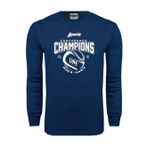 Navy Long Sleeve T Shirt-2016 Atlantic Sun Conference Champions Mens Tennis