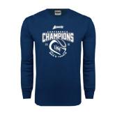 Navy Long Sleeve T Shirt-2016 Atlantic Sun Conference Champions Mens Tennis