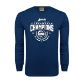 Navy Long Sleeve T Shirt-2016 Atlantic Sun Conference Champions Womens Tennis