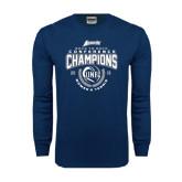 Navy Long Sleeve T Shirt-2016 Atlantic Sun Conference Champions Womens Tennis