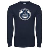 Navy Long Sleeve T Shirt-25th Anniversary
