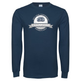 Navy Long Sleeve T Shirt-2017 ASUN Conference Womens Golf Champions