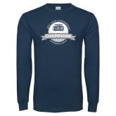 Navy Long Sleeve T Shirt-2017 ASUN Conference Womens Golf Champions
