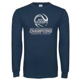 Navy Long Sleeve T Shirt-2017 ASUN Conference Womens Tennis Champions