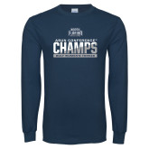Navy Long Sleeve T Shirt-2017 ASUN Conference Womens Tennis Champions