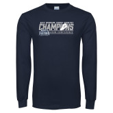 Navy Long Sleeve T Shirt-2017 ASUN Conference Womens Cross Country Champions