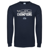 Navy Long Sleeve T Shirt-2018 Womens Tennis Champions