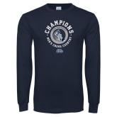 Navy Long Sleeve T Shirt-2018 ASUN Mens Cross Country Champions