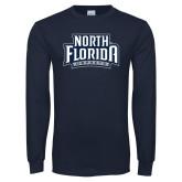 Navy Long Sleeve T Shirt-North Florida Ospreys