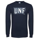 Navy Long Sleeve T Shirt-UNF Monogram