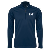 Syntrel Navy Interlock 1/4 Zip-UNF Monogram