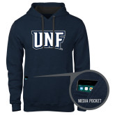 Contemporary Sofspun Navy Heather Hoodie-UNF Monogram