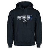 Navy Fleece Hoodie-Baseball w/ Flying Ball