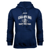 Navy Fleece Hoodie-2016 Atlantic Sun Conference Champions Womens Golf