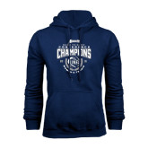 Navy Fleece Hoodie-2016 Atlantic Sun Conference Champions Womens Tennis