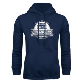 Navy Fleece Hoodie-2017 ASUN Conference Womens Golf Champions Back To Back