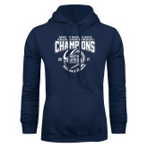 Navy Fleece Hoodie-2017 ASUN Conference Womens Tennis Champions Back To Back