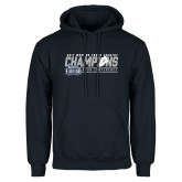 Navy Fleece Hoodie-2017 ASUN Conference Womens Cross Country Champions