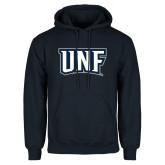 Navy Fleece Hoodie-UNF Monogram