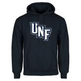 Navy Fleece Hoodie-Diagonal UNF Monogram