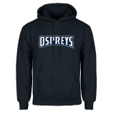 Navy Fleece Hoodie-Ospreys Word Mark