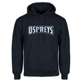 Navy Fleece Hoodie-Ospreys Word Mark