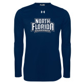 Under Armour Navy Long Sleeve Tech Tee-North Florida Ospreys