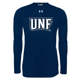 Under Armour Navy Long Sleeve Tech Tee-UNF Monogram