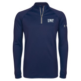 Under Armour Navy Tech 1/4 Zip Performance Shirt-UNF Monogram