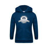Youth Navy Fleece Hoodie-2017 ASUN Conference Womens Golf Champions